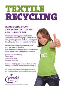 Textiles recycling flyer