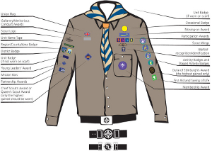 Uniform and badges