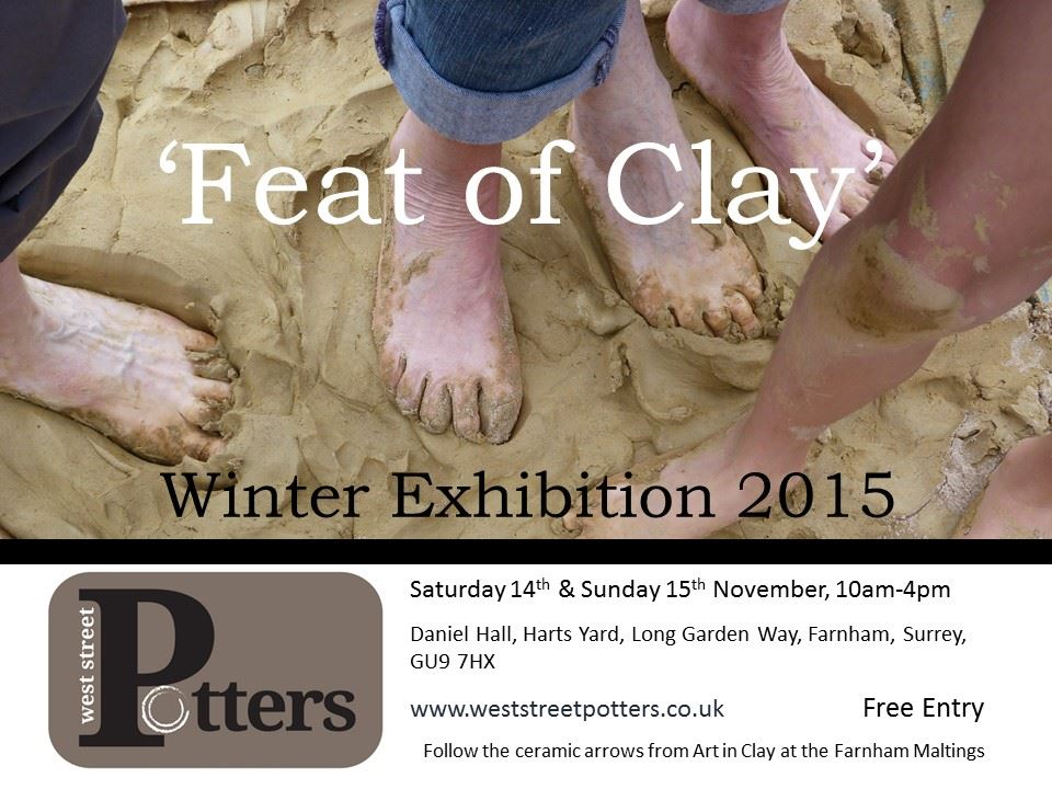 Feat of Clay exhibition poster